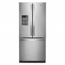19.5 Cu. Ft. Whirlpool French Door Refrigerator - Stainless steel